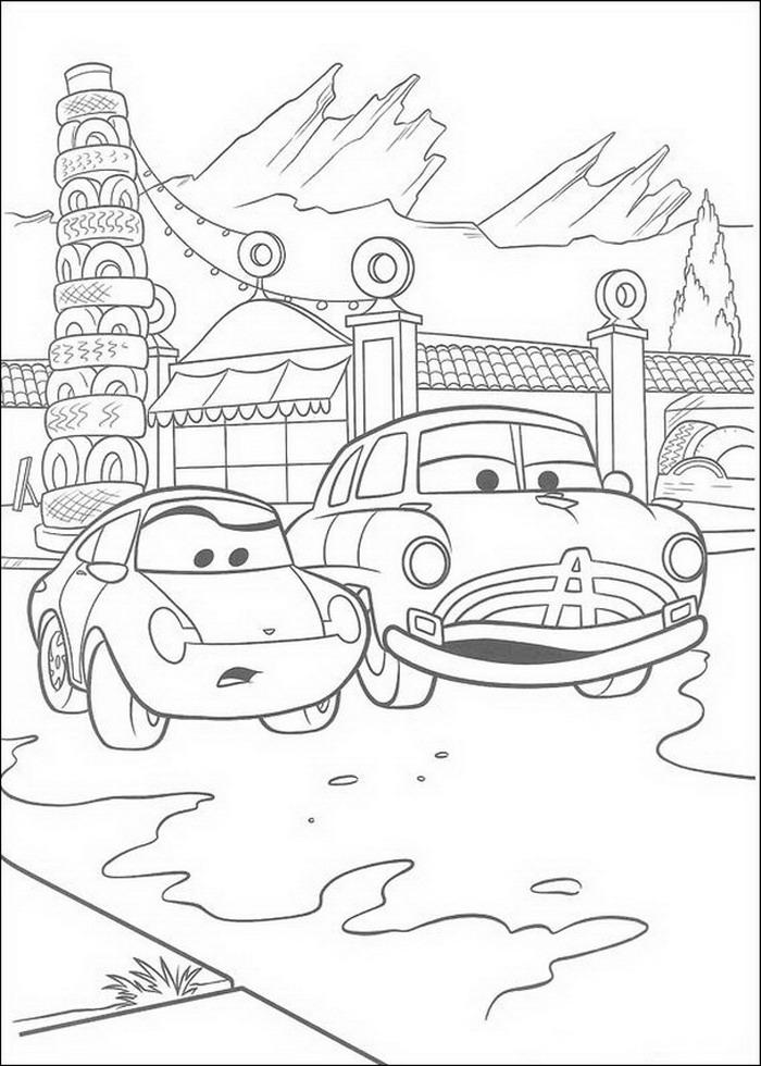 Cars Malvorlagen - DisneyMalvorlagen.de